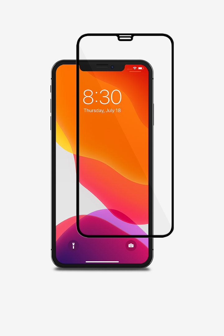 IonGlass for iPhone 11 Pro Max/XS Max#黑 (透明/亮面清透)