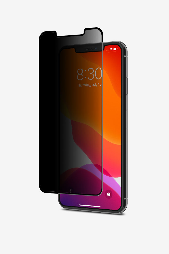IonGlass Privacy for iPhone 11 Pro Max/XS Max#黑 (透明/亮面清透)