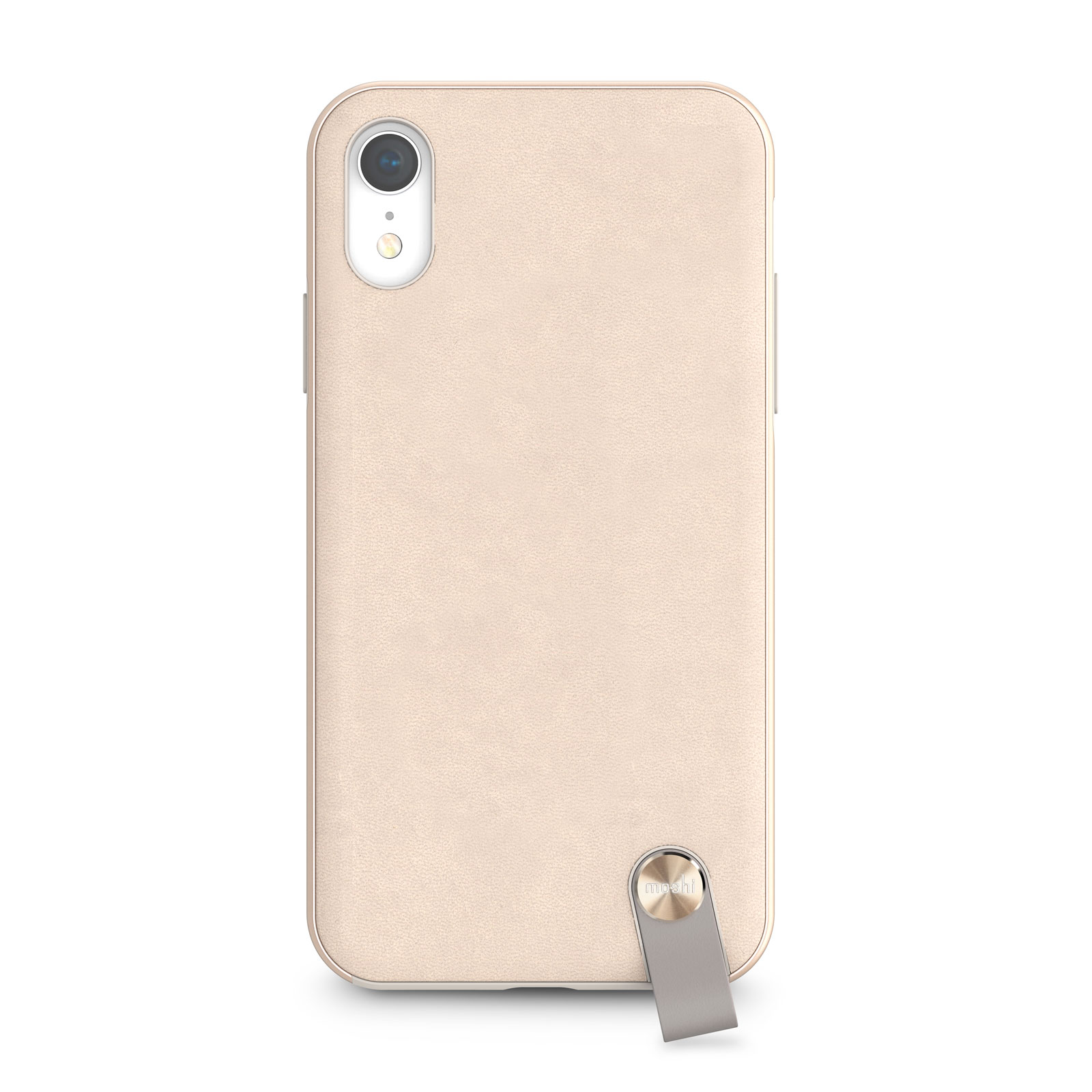 coque iphone xr cuir beige