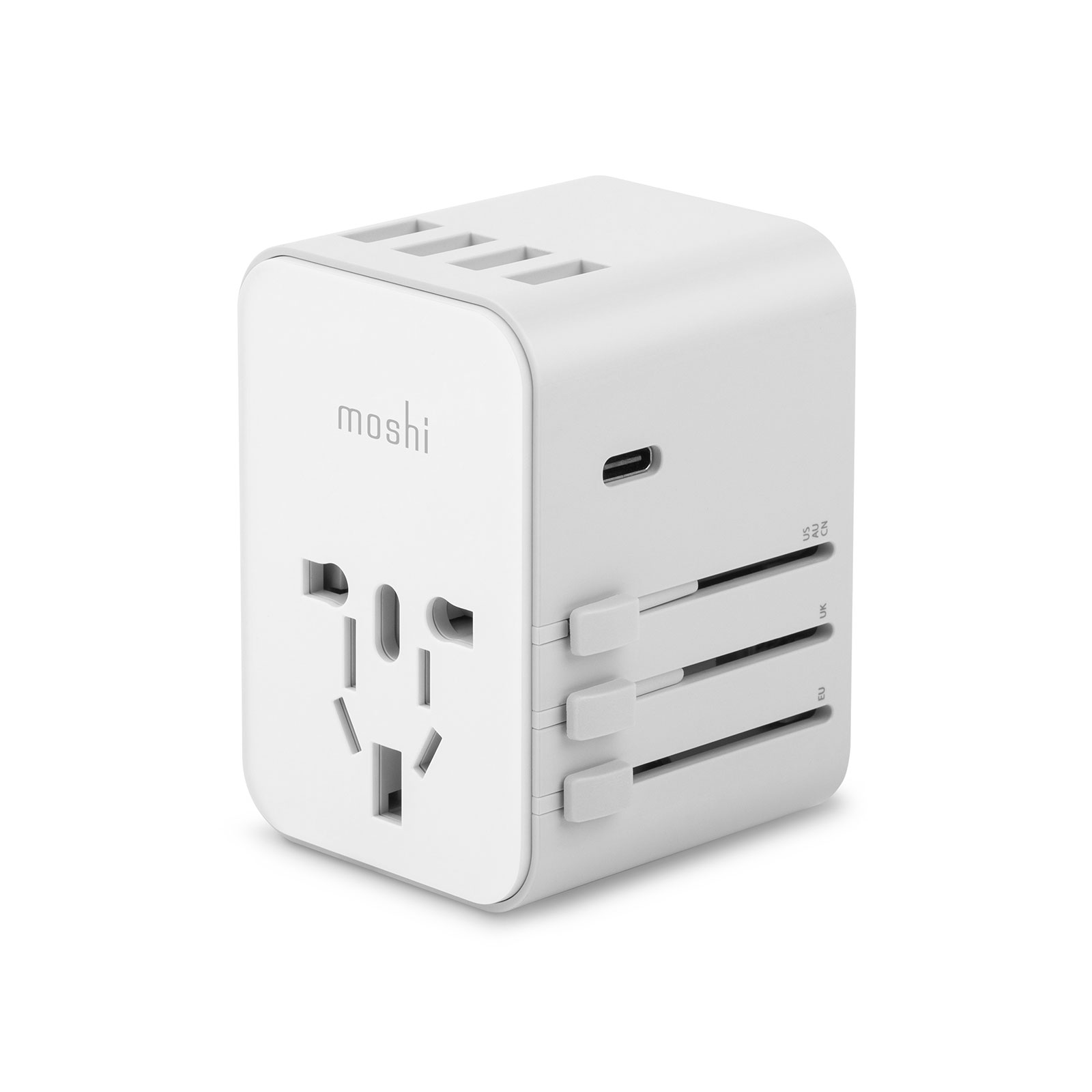 World Travel Adapter with USB-C and USB-A Ports-image
