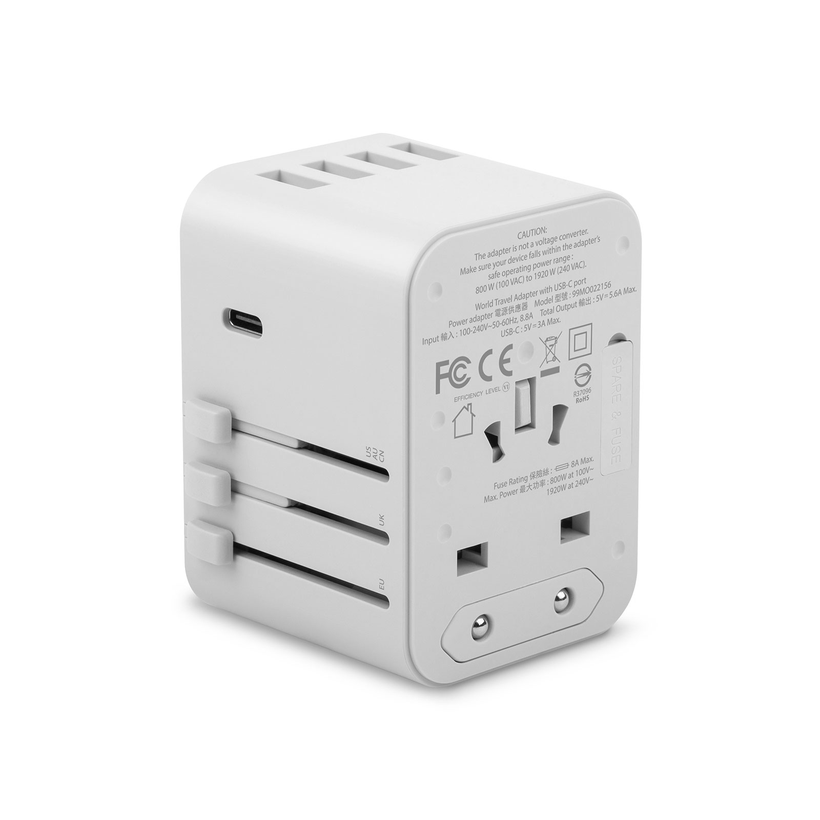 World Travel Adapter with USB-C and USB-A Ports-2-thumbnail