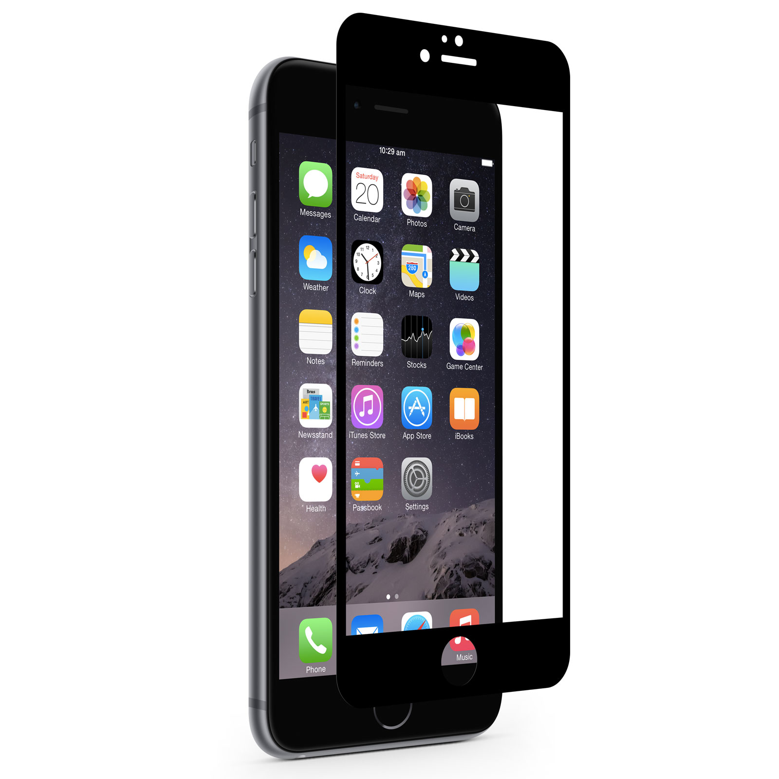 iPhone 6 Screen Protector - Shop iPhone Screen Protector | Black iVisor by Moshi