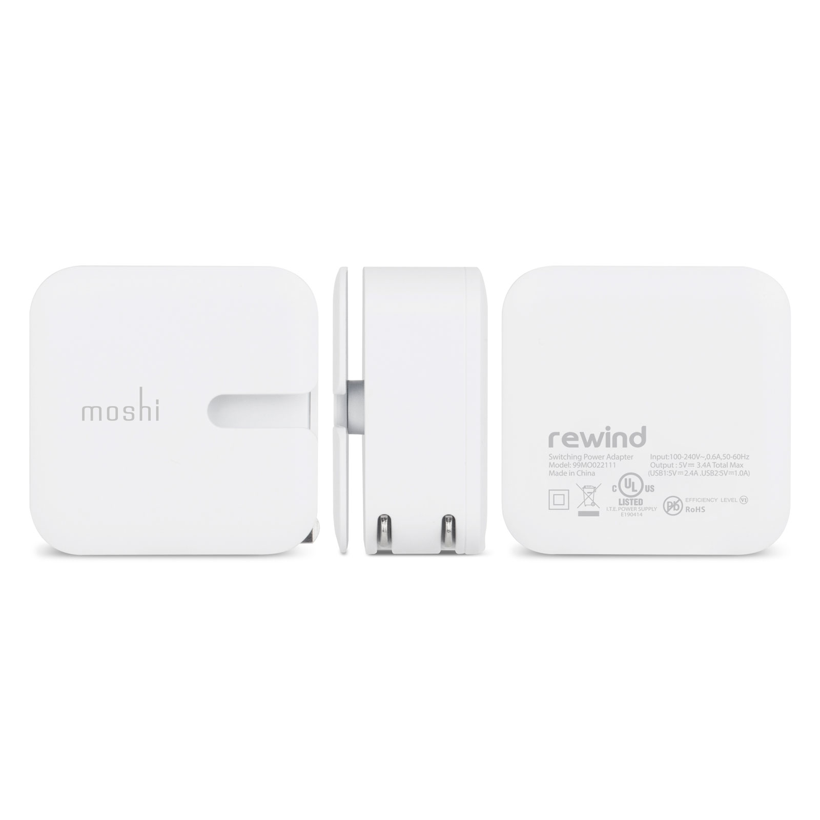 cec2be4b6d4499 Wall Charging Kit with Lightning Cable (US) | Moshi