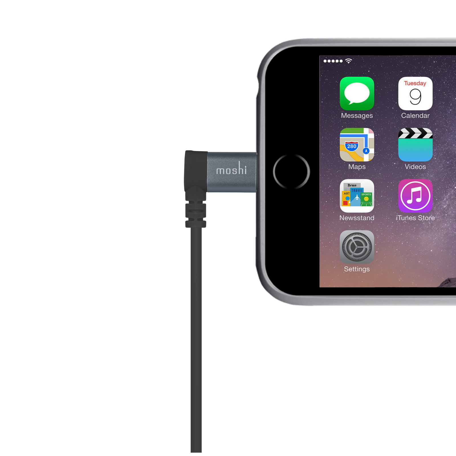 Lightning to USB Cable with 90-degree connector 5 ft (1.5 m)-2-thumbnail