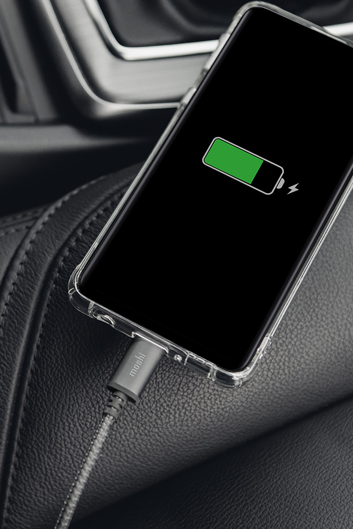 Integra™ USB-C to USB-A Charge/Sync Cable#Titanium Gray