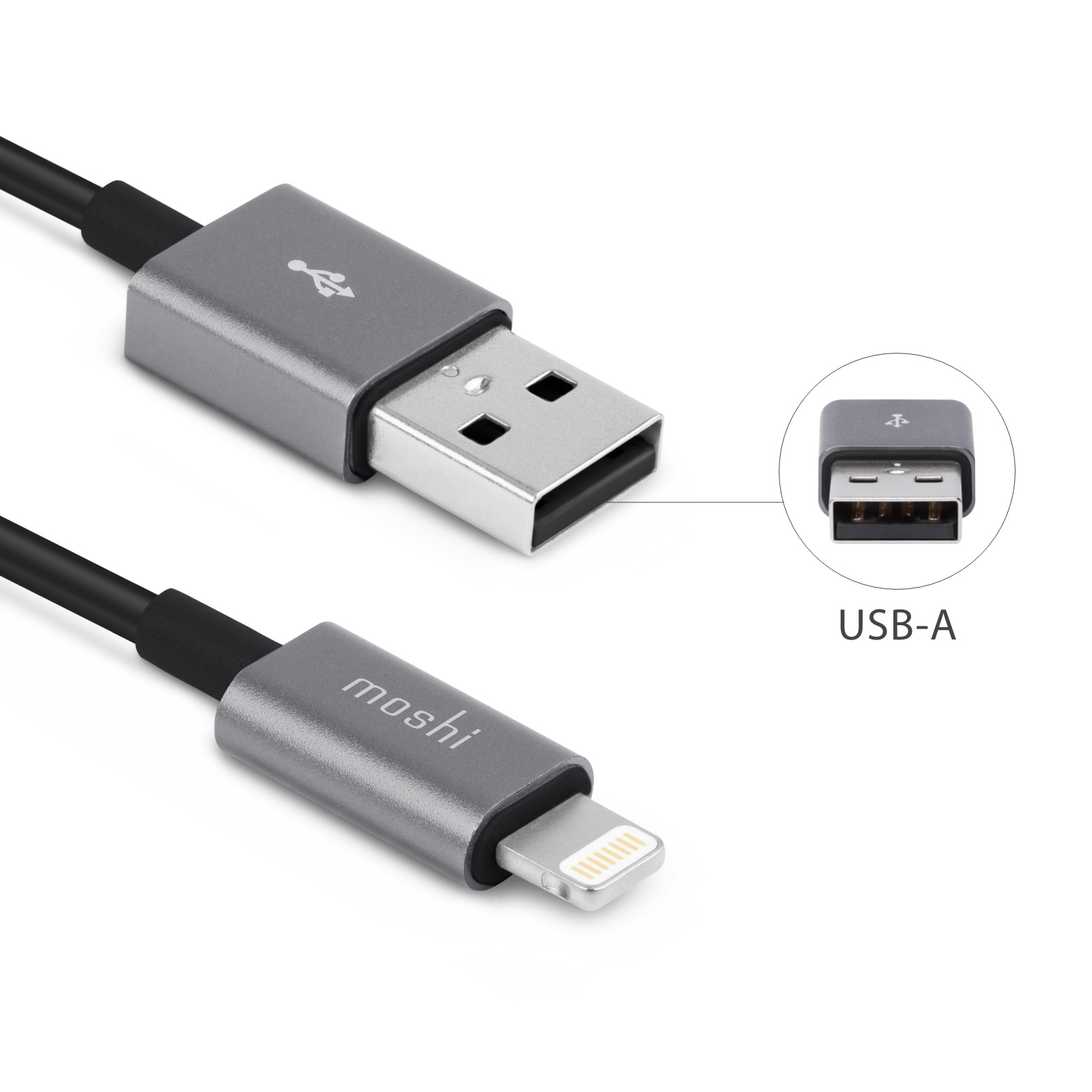 Lightning Cable To Usb 3 3 Ft 1 M Moshi