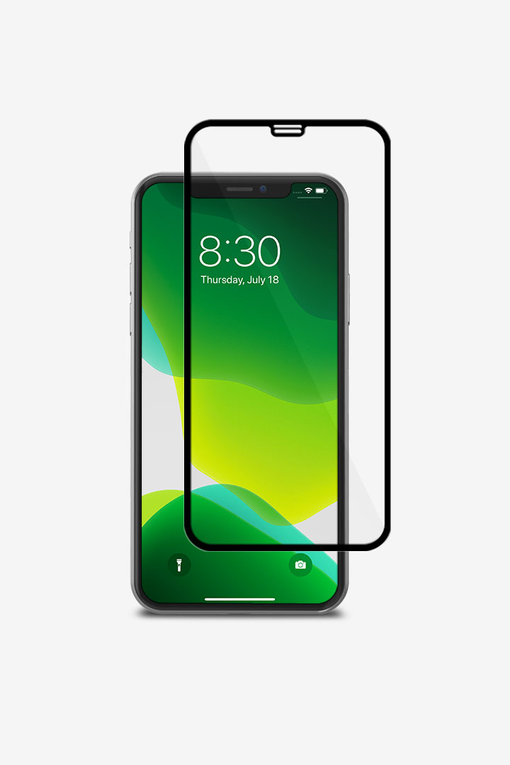 firstIonGlass for iPhone 11 Pro/XS/X#Black (Clear/Glossy)