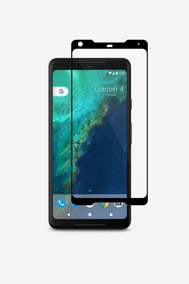 firstIonGlass for Pixel 2 XL#Black (Clear/Glossy)